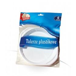 Gosia jednorazowe talerze plastikowe 220mm a-6szt.