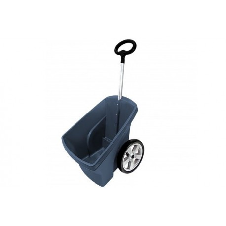 Wózek ogrodowy ciemny popiel 67L