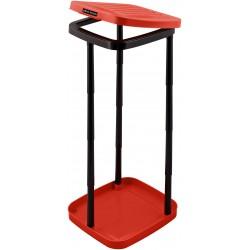 Stojak na worki na śmieci z 12 rurkami (czerwony)