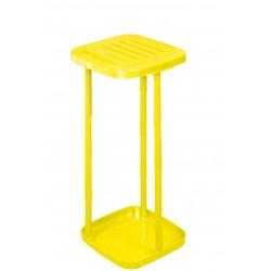 Stojak na worki na śmieci z 12 rurkami (żółty)