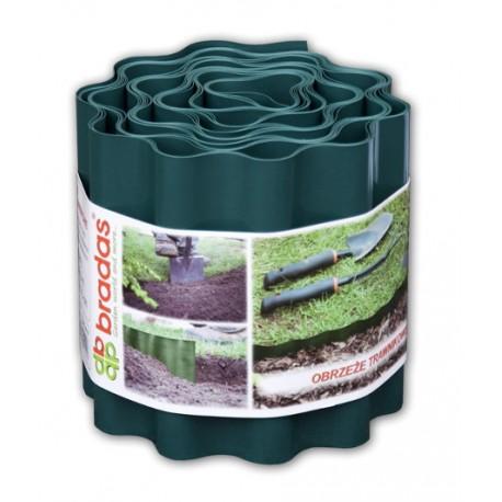 Obrzeże faliste trawnikowe 9m x 15cm, zielone COLOUR BOX