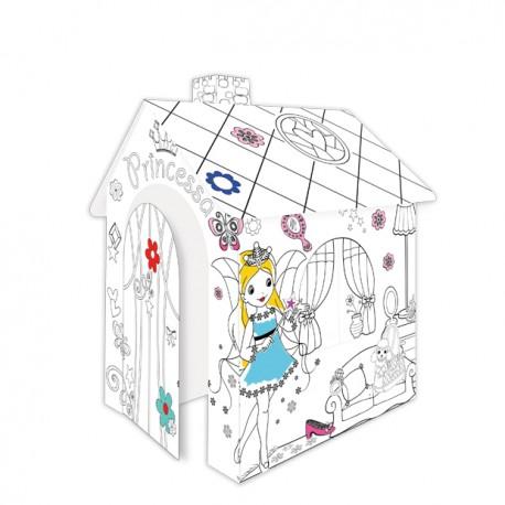 Domek do kolorowania Księżniczka